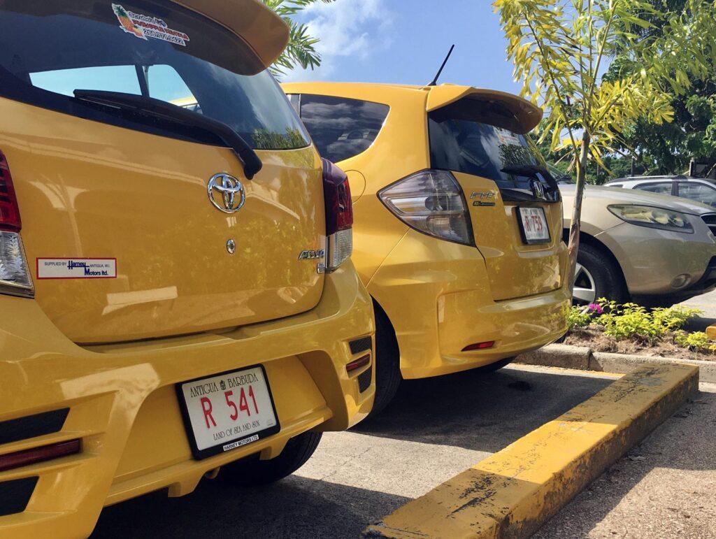 Car backsides at Pineapple Rentals