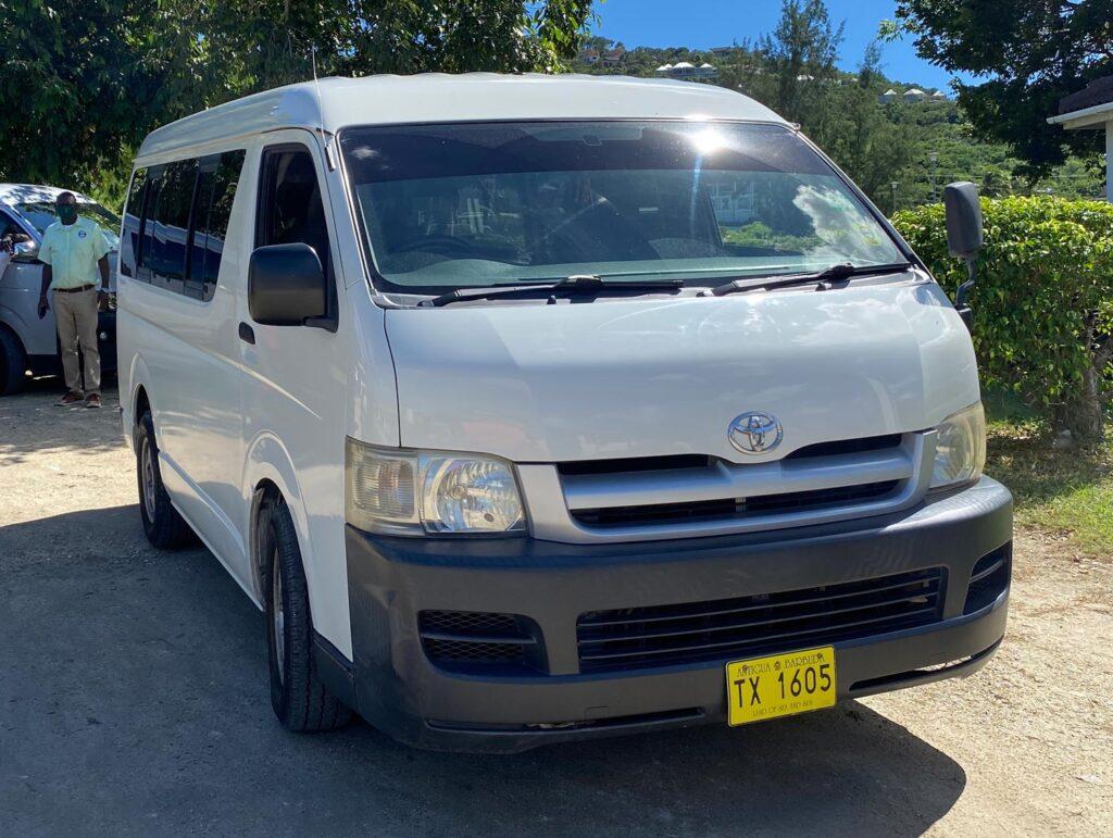 An Antigua taxi