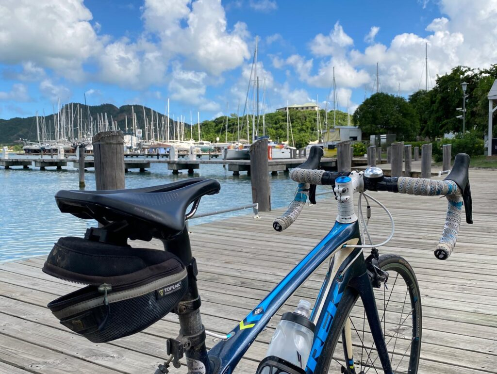 a bicycle on the dock