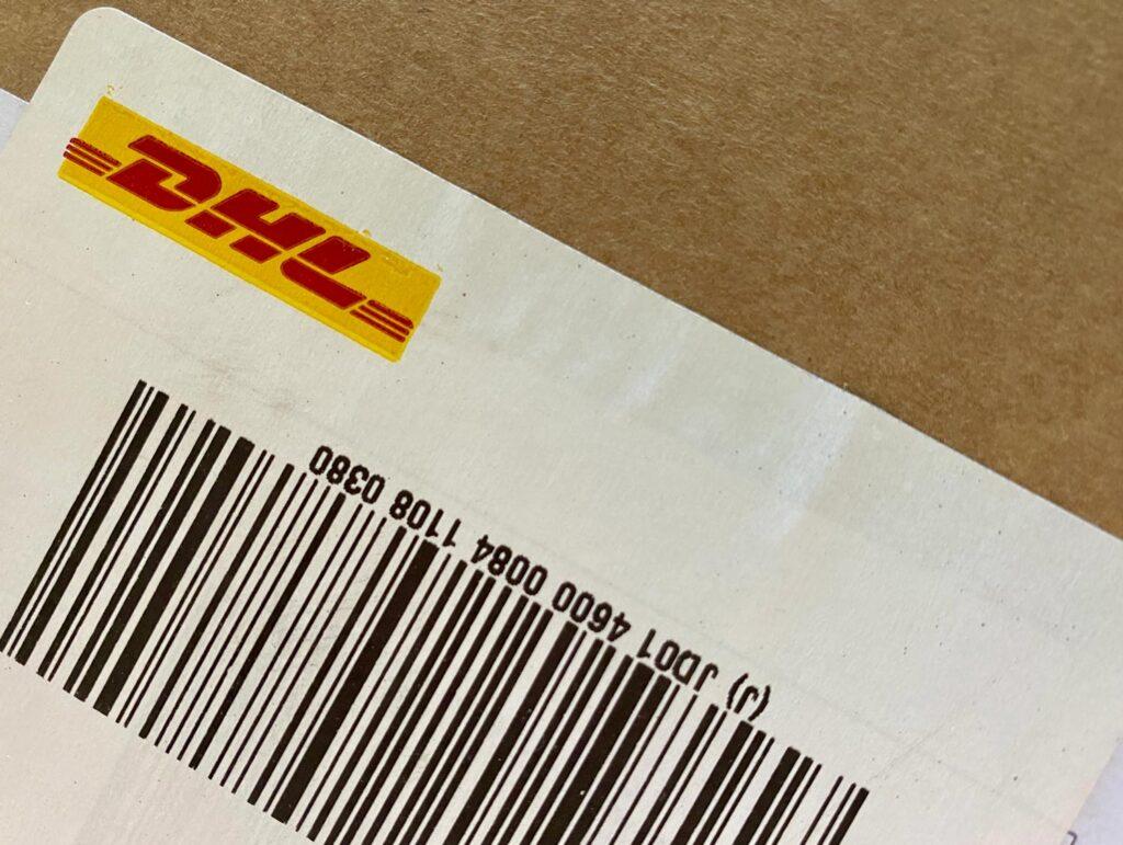 DHL shipping label