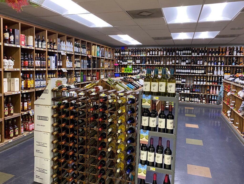 Epicurean Supermarket wines and liquor