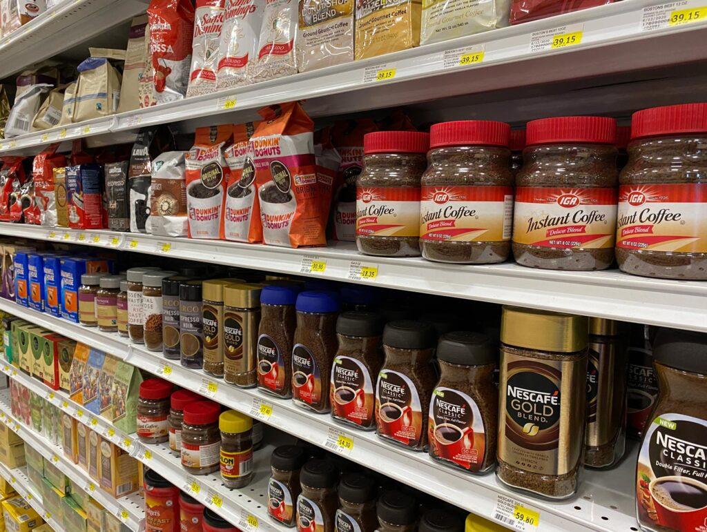 Epicurean Supermarket coffee aisle