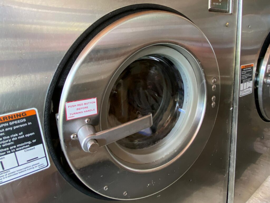 laundry machine closeup