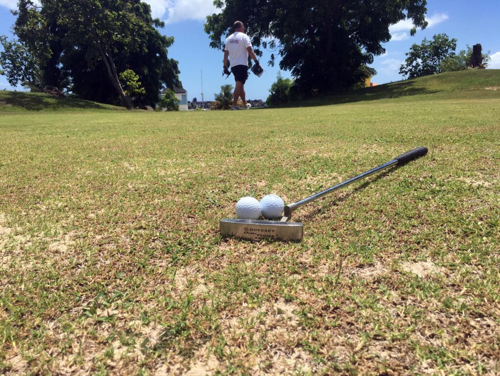 a round on Jolly Harbour golf course