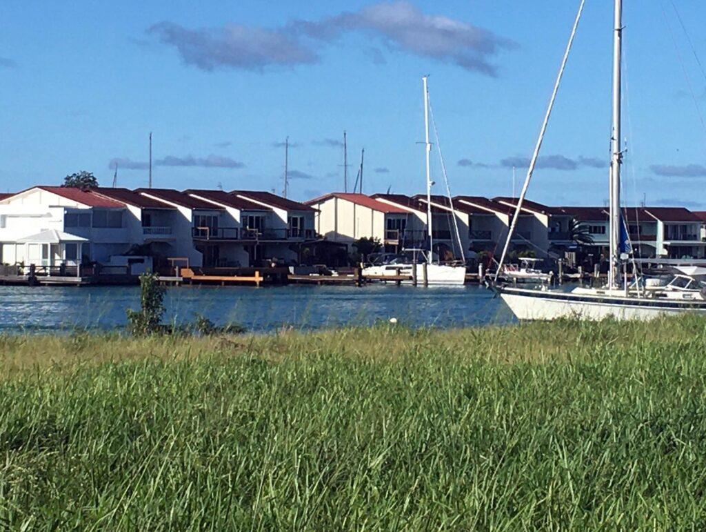 a row of Jolly Harbour villas